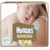 HUGGIES DIAPERS NEW BORN UP 5KG 24PCS