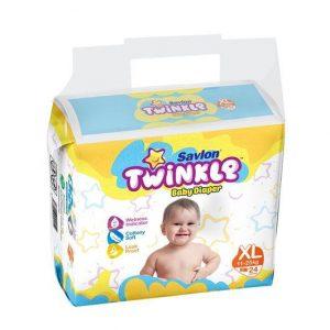 Savlon Twinkle Baby Diaper (6-11kg/40pcs) [Get 1 Savlon Twinkle Baby Diaper