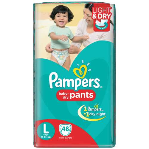 Pampers Baby Dry Pants (L, 9-14kg, 46pcs)