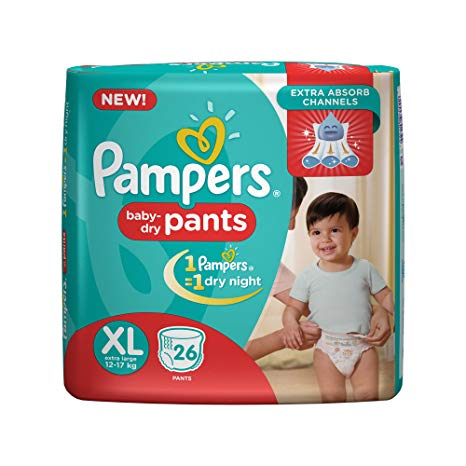 Pampers Baby Dry Pants (XL, 12-17kg, 26pcs)