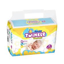 Savlon Twinkle Baby Diaper (Small/Up to 8kg/30pcs)