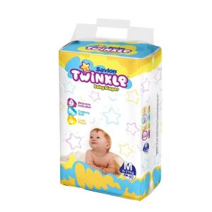 Savlon Twinkle Baby Diaper (Medium/6-11kg/28pcs)