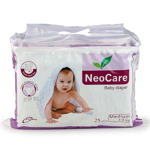 NeoCare Medium Baby Diaper (4-9kg/25pcs)
