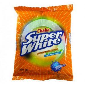 Chaka Super White Detergent Powder 500 gm